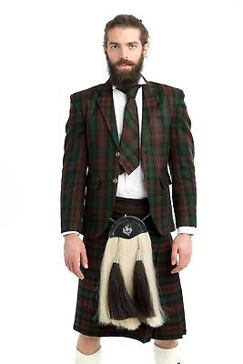 Deluxe Argyle Tartan Jacket & Kilt Outfit Made To Measure