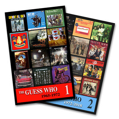 """THE GUESS WHO twin pack album cover discography magnet set (3.75"""" x 4.75"""")"""
