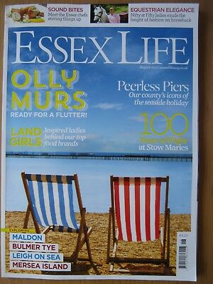 Essex Life magazine August 2017 Olly Murs Chefs Maldon Leigh on Sea Mersea Is