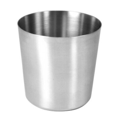 6 x Stainless Steel Presentation Plain Serving Cups Restaurant Catering 8.5cm