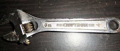 Craftsman 6 in /150mm Adjustable Wrench 944602 USA Vintage Tools