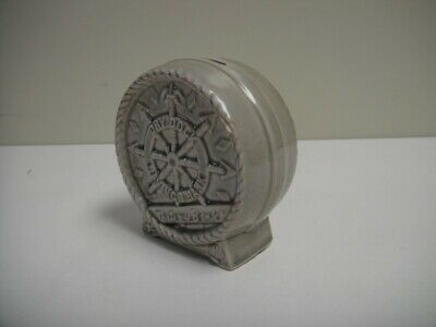 Vintage McCoy Dry Dock Savings Bank Ceramic Pottery Coin Piggy Bank