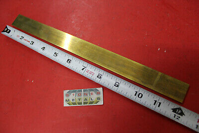 "1/8"" x 1"" C360 BRASS FLAT BAR 12"" long Solid Plate Mill Stock H02 Half Hard .125"
