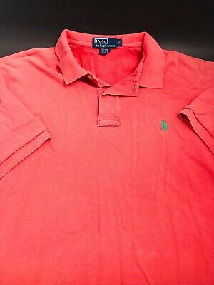Polo Ralph Lauren Mens Size XL Salmon Short Sleeve Golf Rugby Polo Shirt