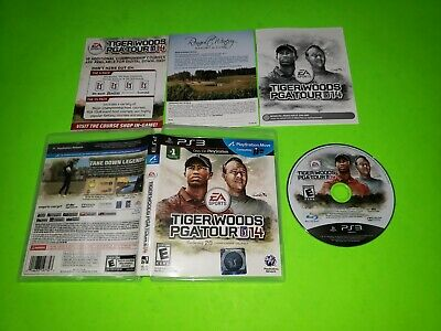 Tiger Woods PGA Tour 14 PlayStation 3 PE3 100% COMPLETE CIB VERY GOOD 2014 Golf