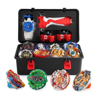 12X  Beyblade Burst Spinning w/  Grip Launcher+Portable Storage Box Case Gift