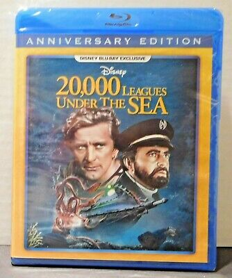 20,000 LEAGUES UNDER THE SEA Anniversary Disney Movie Club Blu-ray EXCLUSIVE New