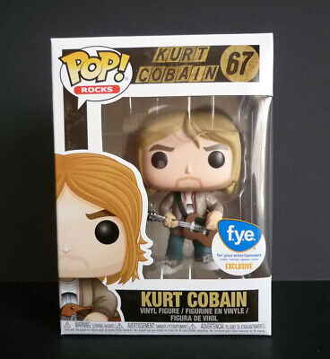 Funko Pop! Rocks Kurt Cobain KURT COBAIN #67  FYE Exclusive