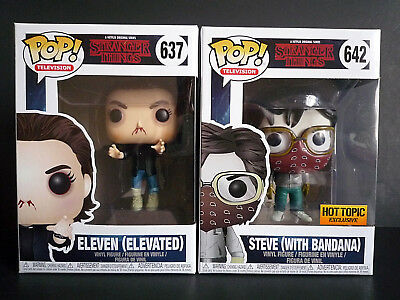 Funko Pop Stranger Things Eleven Elevated Steve with bandana Hot Topic Exclusive