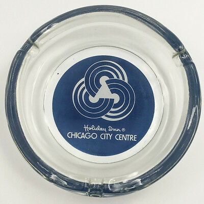 Holiday Inn Chicago City Centre Vintage Glass Ash Tray