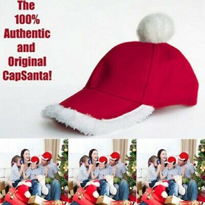 AU Unisex Father Christmas Hat XMAS Santa Family Gift For Adult Kid Baby Hats