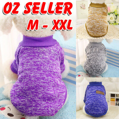 Pet Dog Puppy Classic Warm Jumper Sweater Clothes Knitwear Knitted Coat Winter