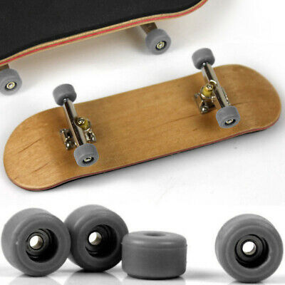 Complete Wooden Fingerboard Finger Skate Board Grit Box Foam Tape Maple Wood Set