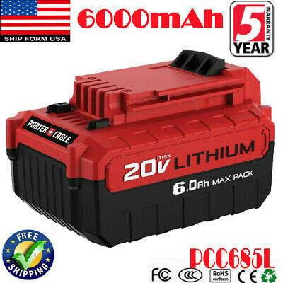 FOR Porter Cable PCC685L 20-Volt Max 6.0Ah Lithium-Ion Battery PCC680L PCC682L