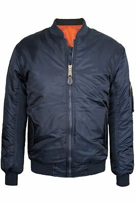 Maximos Men's Bomber Jacket Reversible Water Resistant Full Zip Navy