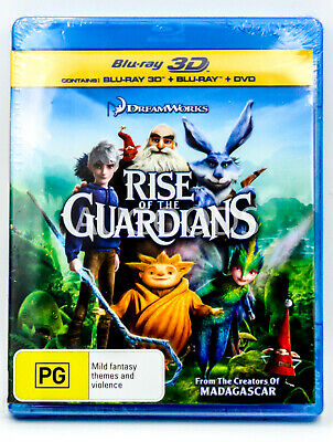 Rise of the Guardian - Bluray Disc RARE FILM MOVIE PAL DVD NEW SEALED