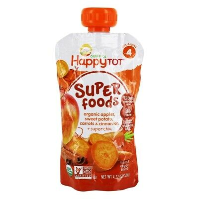 Happy Family - Happy Tot Organic Superfoods Stage 4 Sweet Potato, Apple, Carrot,