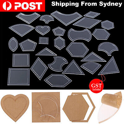 54 Pcs Acrylic Quilting Templates Sewing Stencils Patchwork Ruler Project Sewing