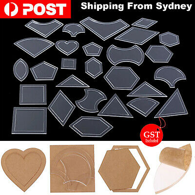 54 Pcs Quilt Acrylic Quilting Template Ruler Tool For Patchwork Craft Sewing DIY