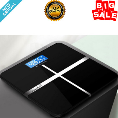 Bluetooth Smart Digital Body Weight Fat Smart Electronic Backlit LED NEW