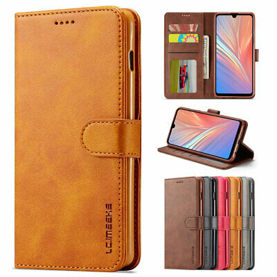 Case For Huawei P30 P20 Pro Lite Real Genuine Leather Magnetic Wallet Flip Cover
