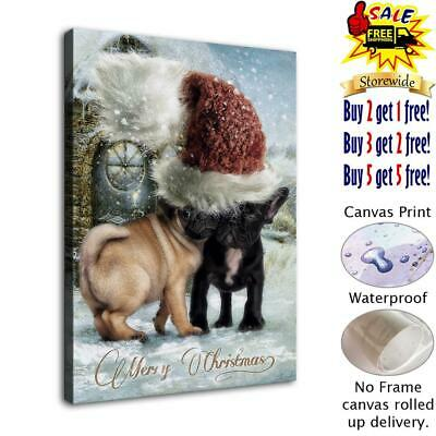 """merry christmas HD Canvas Prints Home Decor Picture room Wall Art Poster 12""""x16"""""""