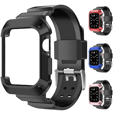 Silicone Apple Watch Band Strap Series 5/4/3/2/1 44/42/40/38mm Sports Men Women
