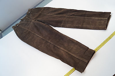 Distler Women's Traditional Costume Leather Pants Gr.36 Suede Braun Top #32