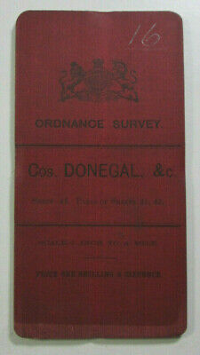 1899 Old OS Ordnance Survey Ireland One-Inch Second Ed Map 43 Cos. Donegal &c