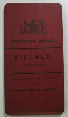 1899 Old OS Ordnance Survey Ireland One-Inch Second Edition Map 41 & 53 Killala