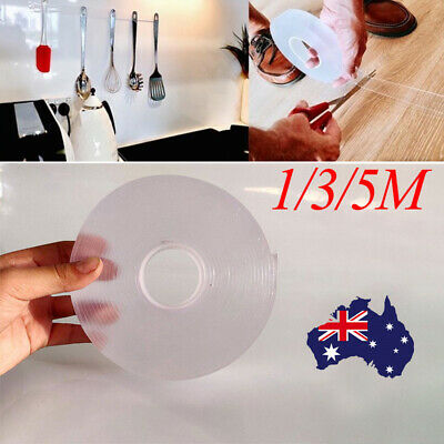 Double-sided Grip Tape Traceless Washable Adhesive Tape Nano Invisible Gel AU
