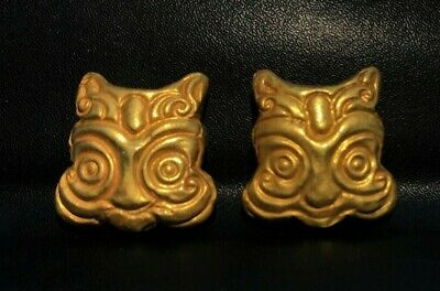 A very beautiful ancient Mongolian Gold Casted beads