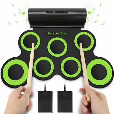 YISSVIC Roll Up Drum Electronic Drum Pads Foldable Digital Electronic Drum with
