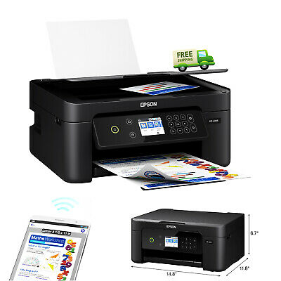 Wireless Colored Printer W/ Scanner Copier & Fax Compact Fast Printing Machine