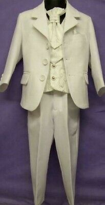 Brand New Boys Formal 4 Piece Suit Boy Prom Wedding Suit In White Ages 1 To 16