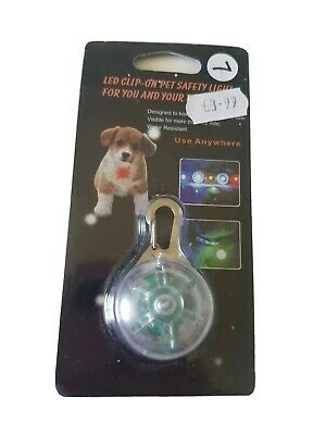 Cat Dog Pet Safety LED Buckle Clip on Night Light Up Flash Collar Neon Pendant