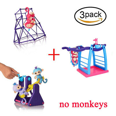 3pcs Finger Monkey Jungle Baby Play Gym Climbing Stand Fun Toy for Fingerlings