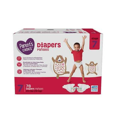 Parent's Choice Disposable Diapers Size 7 (41+lbs) + Baby Wipes *2 day Ship