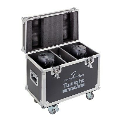 SOUNDSATION Flight Case per 2 TWILIGHT 150 SPOT