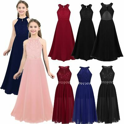 Toddler Kids Baby Girl Flower Dress Lace Formal Party Bridesmaid Pageant Dresses