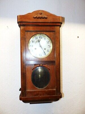 Rarely Old Clock Movement With Beautiful Decor Perhaps Lenzkirch Or Karlstein