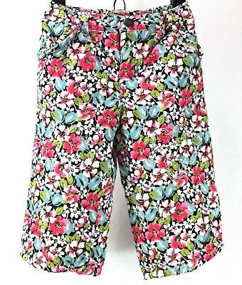 Lands' End Infant Girls Lined Corduroy Floral Stretch Waist Pants Size 6-9M