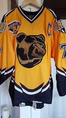 official photos d5f74 43697 bruins yellow bear jersey