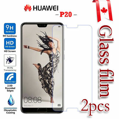 2x Huawei P20 Pro Mate 20 Tempered Glass LCD Screen Protector Film Guard