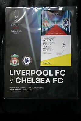 Liverpool v Chelsea 2019 UEFA Super Cup Programme/Poster and Ticket
