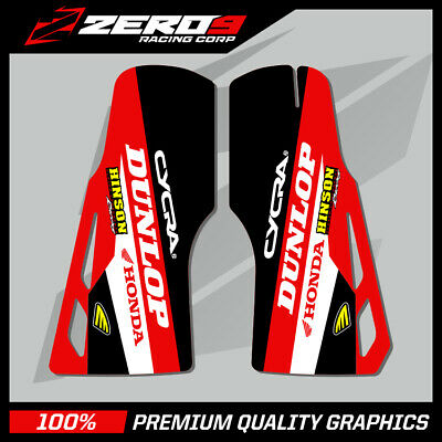 FOR HONDA CRF 250 450 02-17 LOWER FORK GUARD GRAPHICS MX DECALS MOTOCROSS