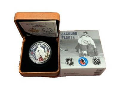 2015 $10 Fine Silver Coin 99.99% Toronto Maple Leafs Jacques Plante Goalie