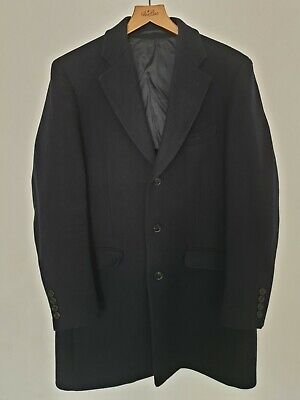 Moss 1851 Mens Overcoat Tailored Fit Camel Double Face with Check Warm Winter