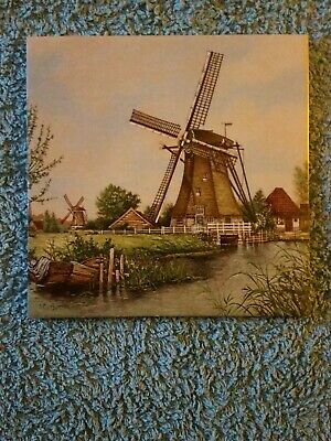 Dutch Windmill Tile; Signed J C Van Hunnik. Perfect Condition.