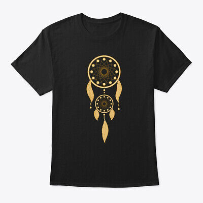 Dream Catcher Gold Feather Native Hanes Tagless Tee T-Shirt